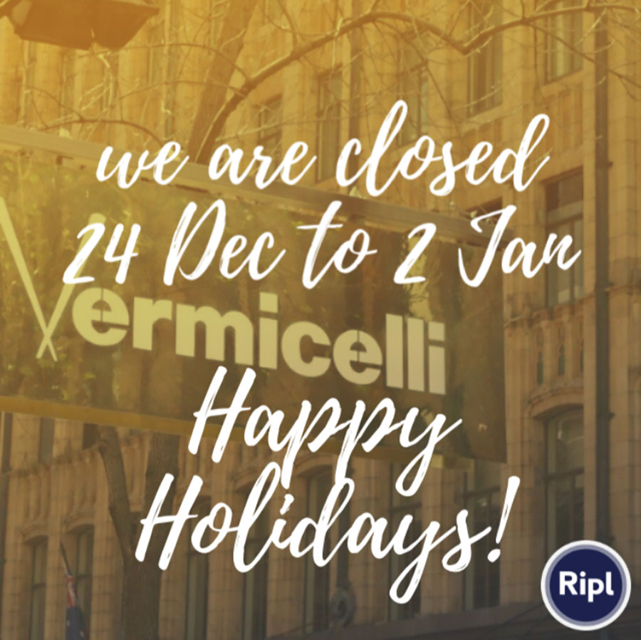 We are closed 24 Dec to 2 Jan